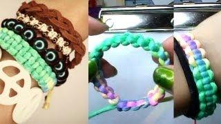 Stackable Bracelet #1 Basic Square Knot - YouTube