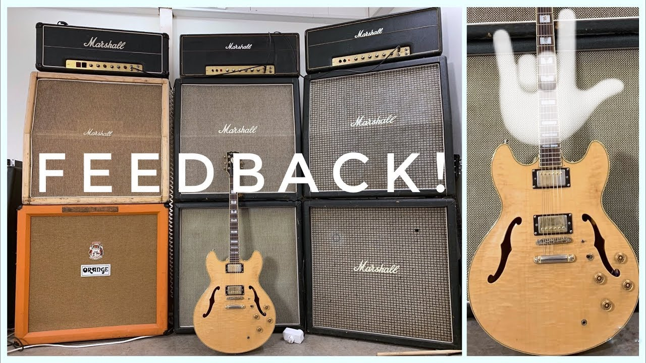 Death by Marshall WALL and HOLLOWBODY Electric Guitar!