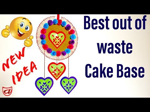 Birthday wishes for best friend - Best DIY crafts Ideas  Reuse waste Cake Base  DIY wall hanging Decor craft from waste material