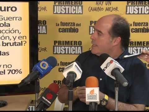 Julio Borges: 'Exigimos que todo el Gobierno rinda cuentas al país por el caos económico'