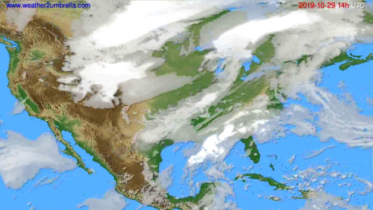 Cloud forecast USA & Canada // modelrun: 12h UTC 2019-10-27