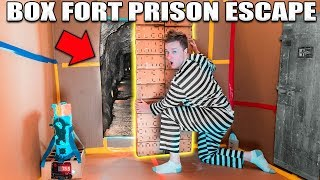 24 HOUR BOX FORT PRISON ESCAPE ROOM!! 📦🚔 Top Secret Passage To Escape!