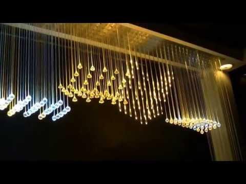 Zestaw Kurtyna Światłowodowa, modne dekoracje do wnętrz, świetliste kryształki