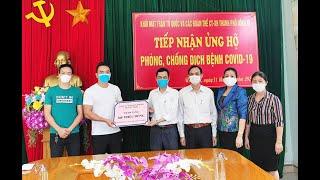 TP Uông Bí tiếp nhận trên 550 triệu đồng và nhiều hiện vật ủng hộ phòng chống Covid 19