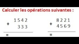 Maths 6ème - Les opérations : Addition Soustraction Multiplication Division Exercice 1
