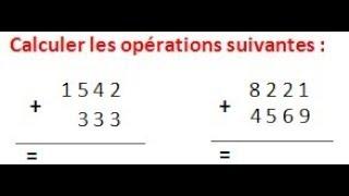Maths 6ème - Les opérations : Addition Soustraction Multiplication Division Exercice 1