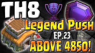Video ABOVE 4850! - TH8 Push to Legends Series - Episode 23 - Clash of Clans MP3, 3GP, MP4, WEBM, AVI, FLV Juni 2017