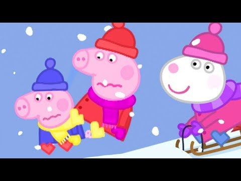 Peppa Wutz  Schlittenfahrt!  Peppa Pig Deutsch Neue Folgen  Cartoons für Kinder