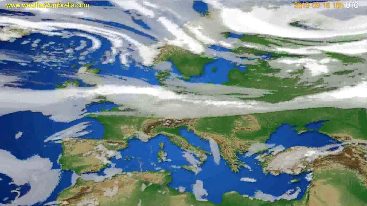 Cloud forecast Europe // modelrun: 00h UTC 2019-09-14