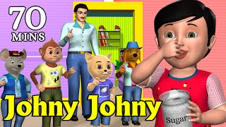 Johny Johny Yes Papa Nursery Rhyme - Kids' Songs - 3D Animation