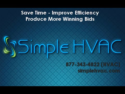 Simple HVAC Estimating Software DEMO
