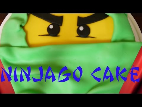 LEGO Ninjago cake Torte dekorieren backen mit Fondant Kuchen backen Chocolate cake