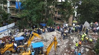 At least 30 people are feared to be trapped after a four-story building collapsed in the Indian city of Mumbai on Tuesday.Subscribe to us on YouTube: https://goo.gl/lP12gADownload our APP on Apple Store (iOS): https://itunes.apple.com/us/app/cctvnews-app/id922456579?l=zh&ls=1&mt=8Download our APP on Google Play (Android): https://play.google.com/store/apps/details?id=com.imib.cctvFollow us on:Facebook: https://www.facebook.com/ChinaGlobalTVNetwork/Instagram: https://www.instagram.com/cgtn/?hl=zh-cnTwitter: https://twitter.com/CGTNOfficialPinterest: https://www.pinterest.com/CGTNOfficial/Tumblr: http://cctvnews.tumblr.com/Weibo: http://weibo.com/cctvnewsbeijing