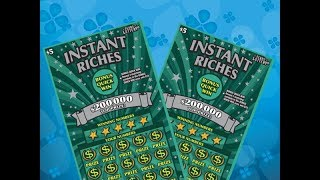 Scratching 2 x $5 Instant Riches Texas Lottery Scratch Off Tickets. Will I find a big win? Stay tuned. Join me on Facebook: https://www.facebook.com/TexanCandy/    Fan Mail:Candy PO Box 241763San Antonio, TX 78224
