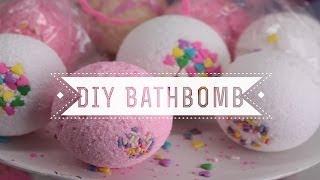 DIY Sprinkles Bath Bombs (Vanilla Cupcake Scented) - YouTube