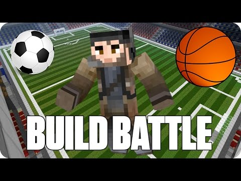 ¡DEPORTES Y SORPRESAS! BUILD BATTLE | Minecraft