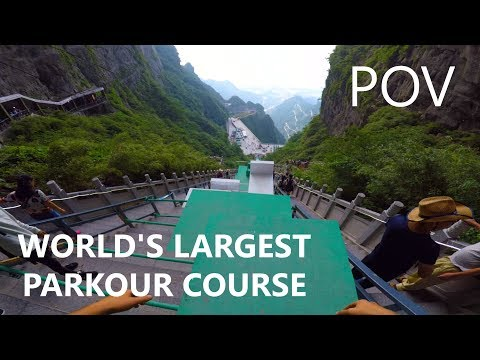 Tackling the World's Largest Parkour Course