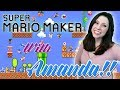 Super Mario Maker with AMANDA💜 |  Viewer Levels!! 💜