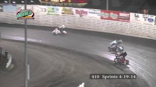 410 Highlights: April 19th, 2014 Knoxville Raceway / Pella Motors Race for Schools Season Opener