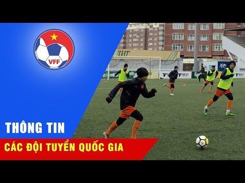 Tuyết rơi ở Mông Cổ, U16 Việt Nam vẫn nỗ lực tập luyện