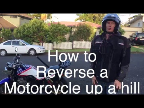 How to reverse your motorcycle up hills and on ice, slippery or pebbled ground