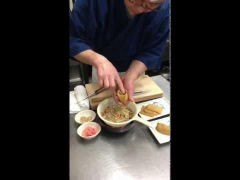 「そば稲荷寿司」の作り方