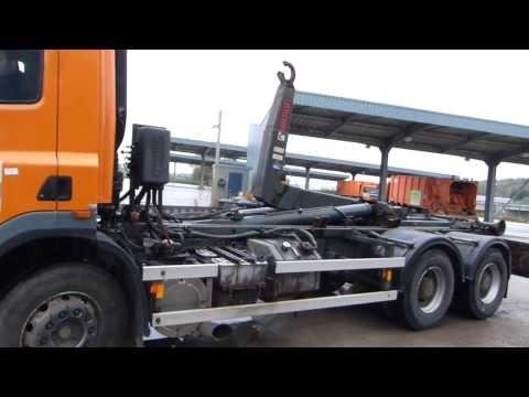 Camion porte container daf 2004 375 436 km - Camion porte container avec grue occasion ...