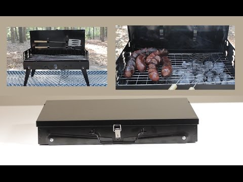 Portable Suitcase BBQ Grill Charcoal