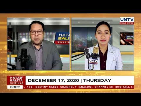 UNTV: Hataw Balita Pilipinas | December 17, 2020 - LIVE REPLAY