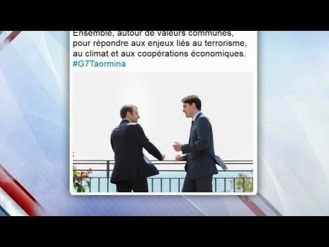 Macron-Trudeau : comment l'image de ce tweet a été savamment organisée