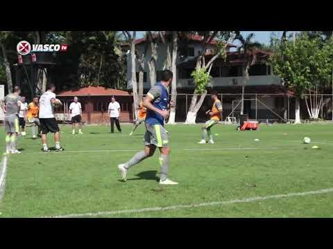 Maurício Copertino em treinos do Vasco