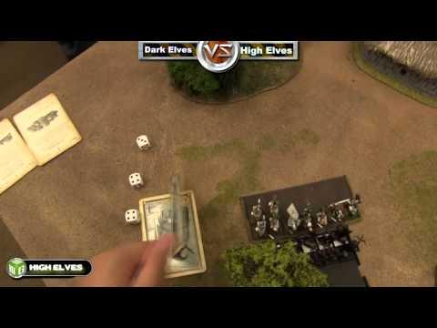 Dark Elves vs High Elves Warhammer Fantasy Battle Report - Fantasy League Ep 3