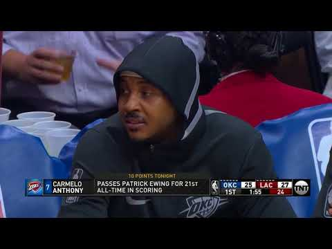 Carmelo Anthony Highlights 22  Pts vs Los Angeles Clippers  4 1 18