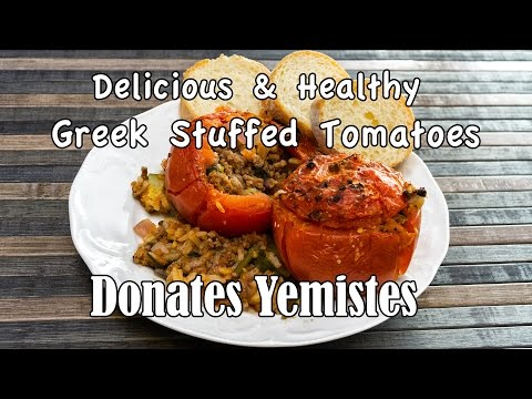 Greek Stuffed Tomatoes (Domates Gemistes) - Healthy & Delicious