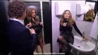 Celine Dion sings in the Bathroom of the TV Studio 2014