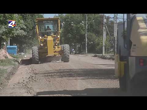 Iniciaron obras de recuperación a nuevo de 30 cuadras y la reparación de otras 50 en la zona portuaria