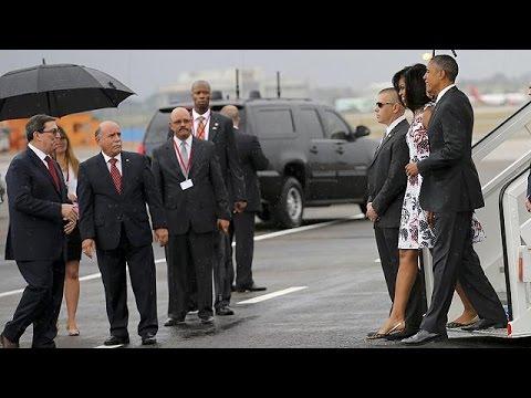 Κούβα: Άρχισε η ιστορική επίσκεψη του Μπαράκ Ομπάμα