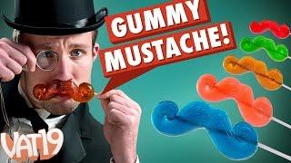 Gummy Mustache on a Stick