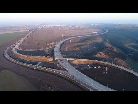 Трасса «Таврида» 4К: строительство развязки автоподходов кмосту