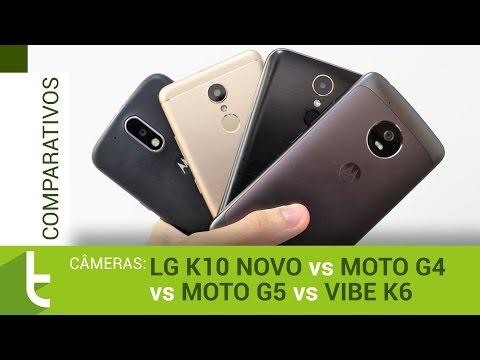 LG K10 Novo, Moto G5, G4 e Vibe K6  Comparativo de câmeras do TudoCelular
