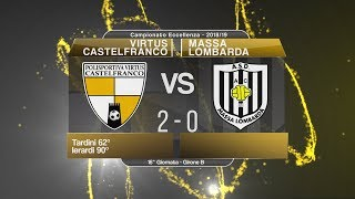 Dilettanti - Eccellenza: V. Castelfranco-Massa Lombarda 2-0, highlights e post partita