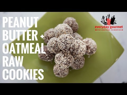 Mayvers Dark Roasted Peanut Butter and Oatmeal Raw Cookies | Everyday Gourmet S6 E68
