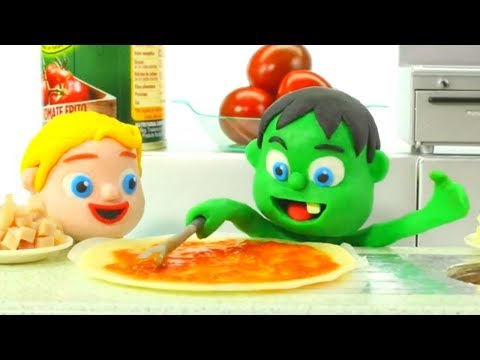 Tommy Cooking Pizza 💕 Cartoons For Kids