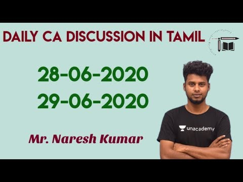 Daily CA Live Discussion in Tamil| 28-06-2020| 29-06-2020 |Mr.Naresh kumar