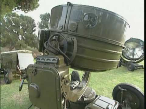 Searchlight - A demonstration on how a W.W. II Carbon Arc Searchlight tracked aircraft by remote control as shown by R. Lee Ermey in his History Channel show