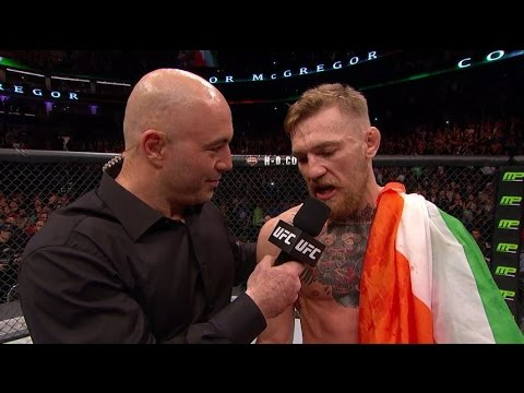 Conor - After a dominating performance inside the Octagon, Conor McGregor spoke to Joe Rogan and Jose Aldo comments on Conor's performance.