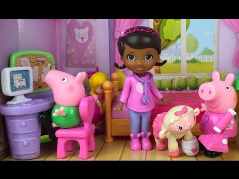 LA DOCTORA JUGUETES EN LA HABITACION DE RISAS Y ABRAZOS PEPPA PIG PLAY DOH