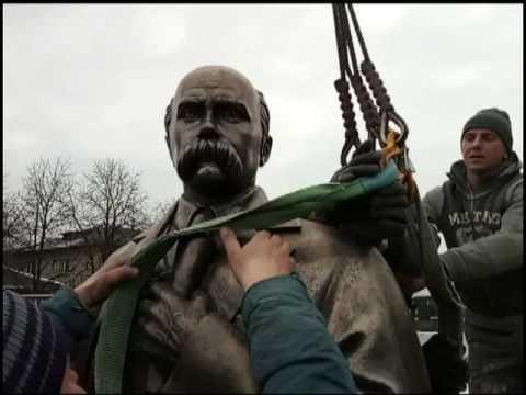 Встановлення памятника Шевченку в Гуляйполі