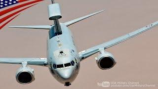 2017年7月3日、非公開の場所にて:アメリカ空軍のKC-135空中給油機から燃料給油を受けるオーストラリア空軍のE-7Aウェッジテイル早期警戒管制機(E-737 AEW&C)、フランス空軍のラファール戦闘機、アメリカ海兵隊のEA-6Bプラウラー電子戦機。 【おすすめ動画】 航空自衛隊KC-767の機内映像:F-...