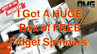 Video Big Box of FREE Fidget Spinner Unboxing! + 5 Giveaways Announced! MP3, 3GP, MP4, WEBM, AVI, FLV Desember 2017